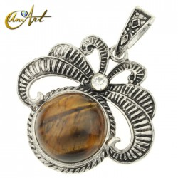 Vintage tiger eye pendant