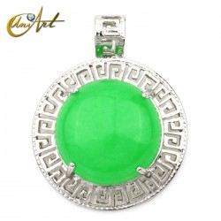 Green jade pendant model Olympus