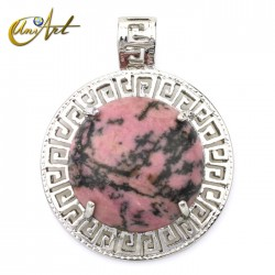 Rhodonite pendant model Olympus
