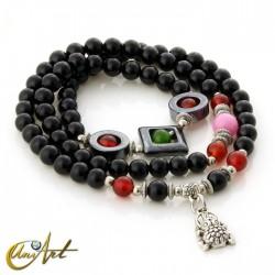 Money frog bracelet - 3-strand