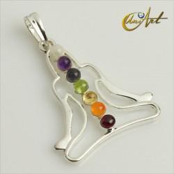Yogi chakras pendant