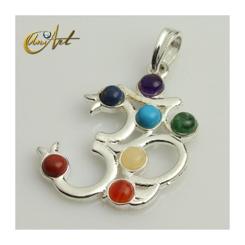 Chakras Om pendant
