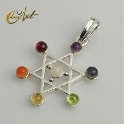 Chakras pendants - esoteric symbols