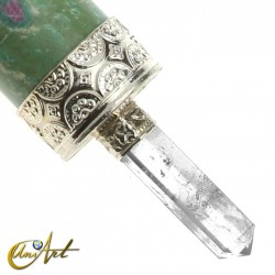 Healing wand in zoisite ruby