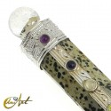 Healing Wand with the stones of the seven chakras