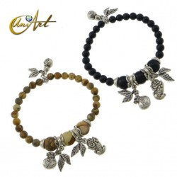 Picture Jasper or onyx money bracelet