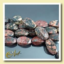 Beads of Jasper in Spirals shape