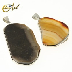 Natural agate pendant