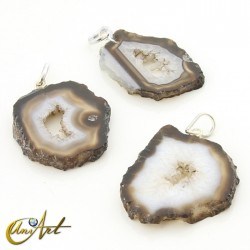 Slap brown agate pendant