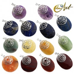 Set with 7 pendants of the chakras