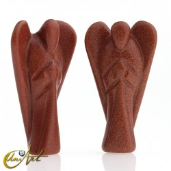 Ángel tallado en Piedra Oro o Piedra Oro lila - Piedra Oro