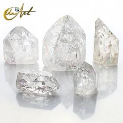 Rainbow quartz tips