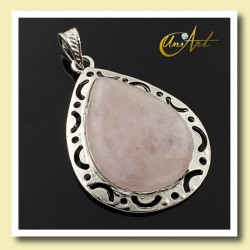 Drop Rose Quartz Pendant Victoria Model