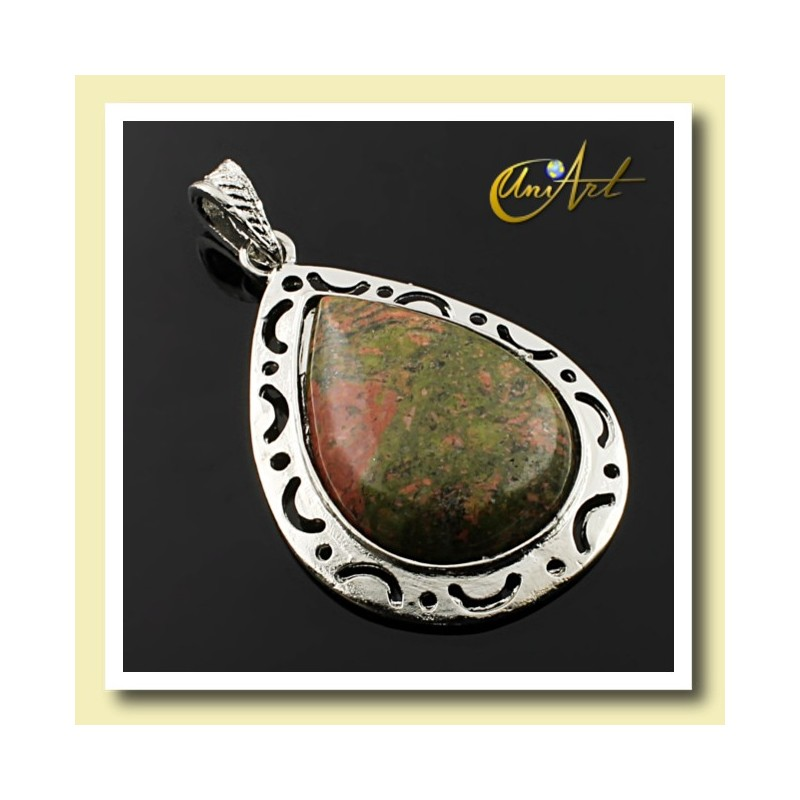 Drop Unakite Pendant Victoria Model