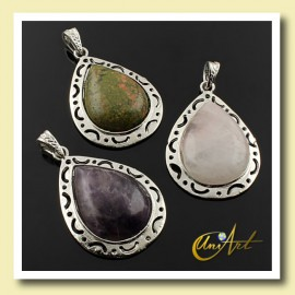 Drop Natural Stone Pendant Victoria Model