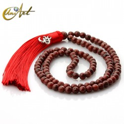 Jasper Tibetan Buddhist Mala with OM