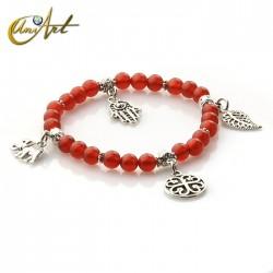 Charm Lucky bracelet - Carneola