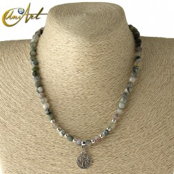 Tree of Life necklace - mossy agate
