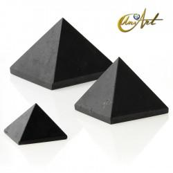 Pirámide de turmalina negra