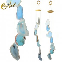 Agate Wind Chime - light blue