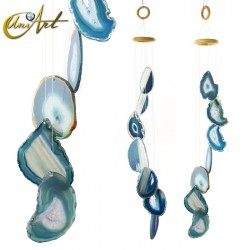 Agate Wind Chime - dark blue