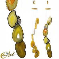 Agate Wind Chime - lemon