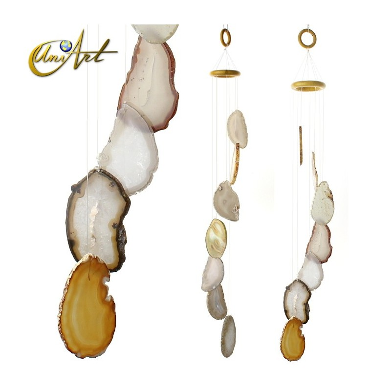 Agate Wind Chime - natural