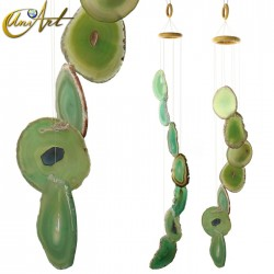 Agate Wind Chime - green