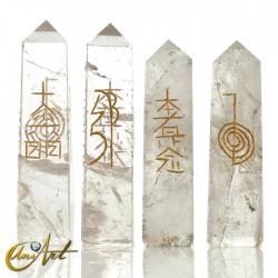 Obelisco conductor Reiki en cuarzo - Cuarzo cristal