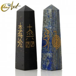 Obelisk with Reiki symbols