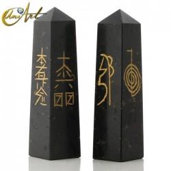 Obelisco de Turmalina o Lapislázuli con símbolos Reiki - Turmalina