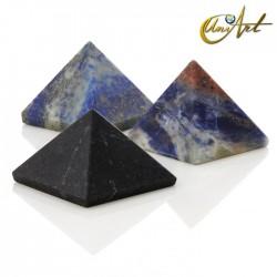 Pirámide de 2,5 cm - piedras naturales