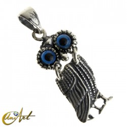 Articulated owl pendant - model 1