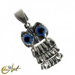 Articulated owl pendant - model 2