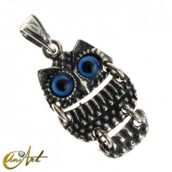 Articulated owl pendant - model 3