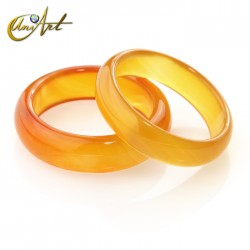 Amber agate ring