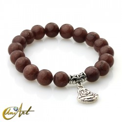 Brown aventurine bracelet - happy buddha