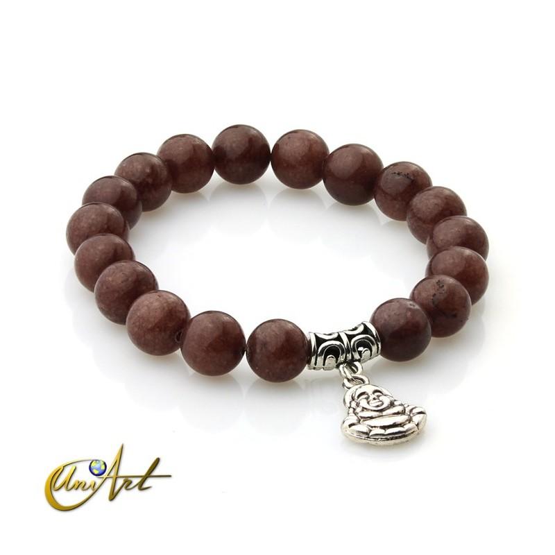 Brown aventurine bracelet - happy buddha