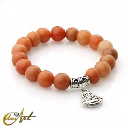 Orange aventurine bracelet - happy buddha
