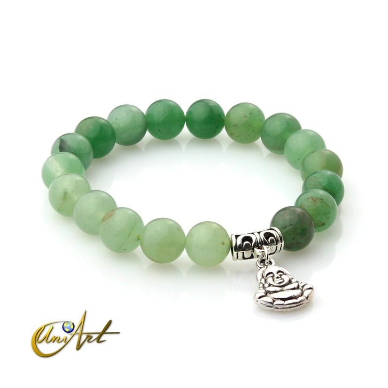 Green aventurine bracelet - happy buddha