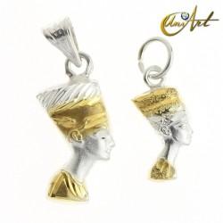Silver pendant Queen Nefertiti