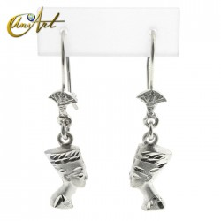 Earrings Nefertiti in silver