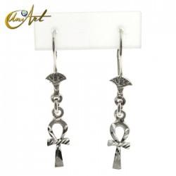 Silver Ankh earrings