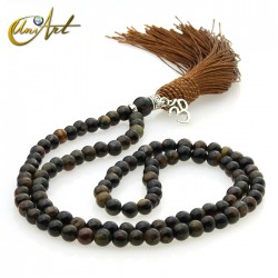 Japa Mala of hawk eye - 6 mm
