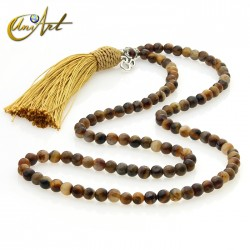 Japa Mala of tiger eye - 6 mm