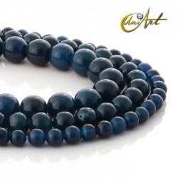 Dark blue pierced agate beads