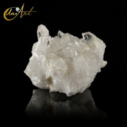 Druse of clear quartz