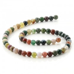 6 mm Round beads of indian agate