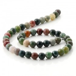 8 mm Round beads of indian agate