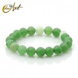 10 mm Beads green jade bracelet